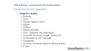 Introduction to TMS Software products: TMS Business, Aurelius, XData, Scripter