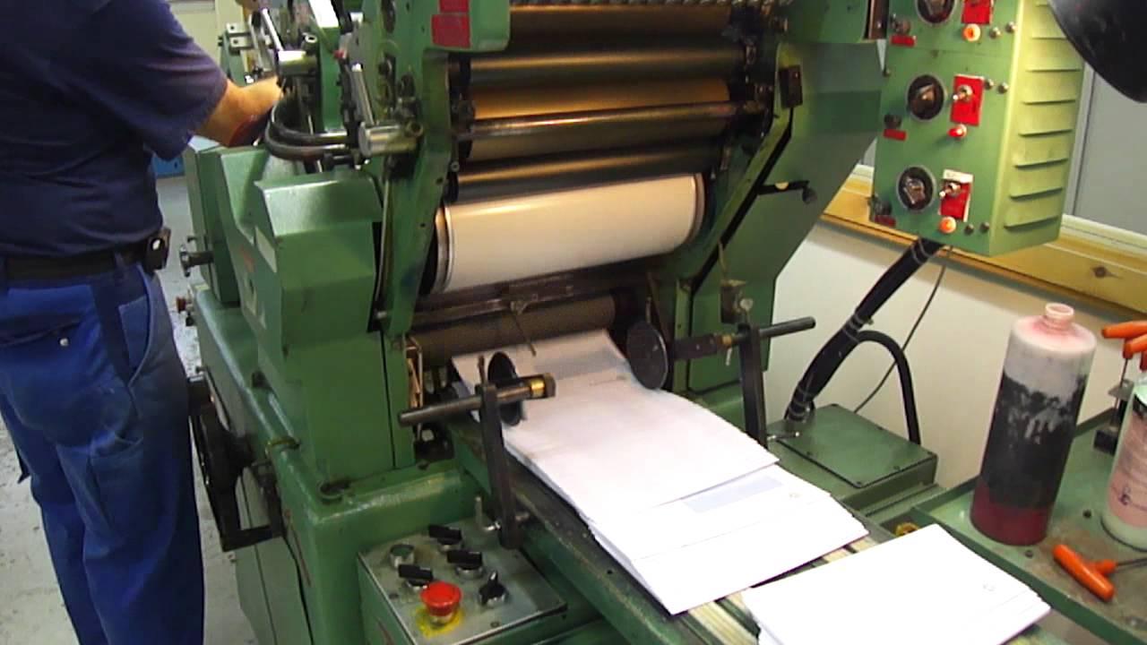 halm jet press video n2 youtube rh youtube com Halm Printing Presses Jet Envelope Press