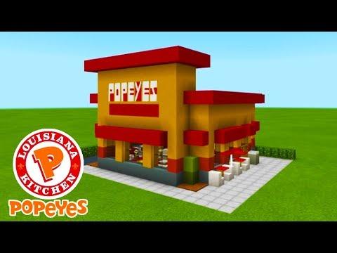 "Minecraft Tutorial: How To Make A Popeyes Chicken Fast Food Restaurant ""2019 City Tutorial"""