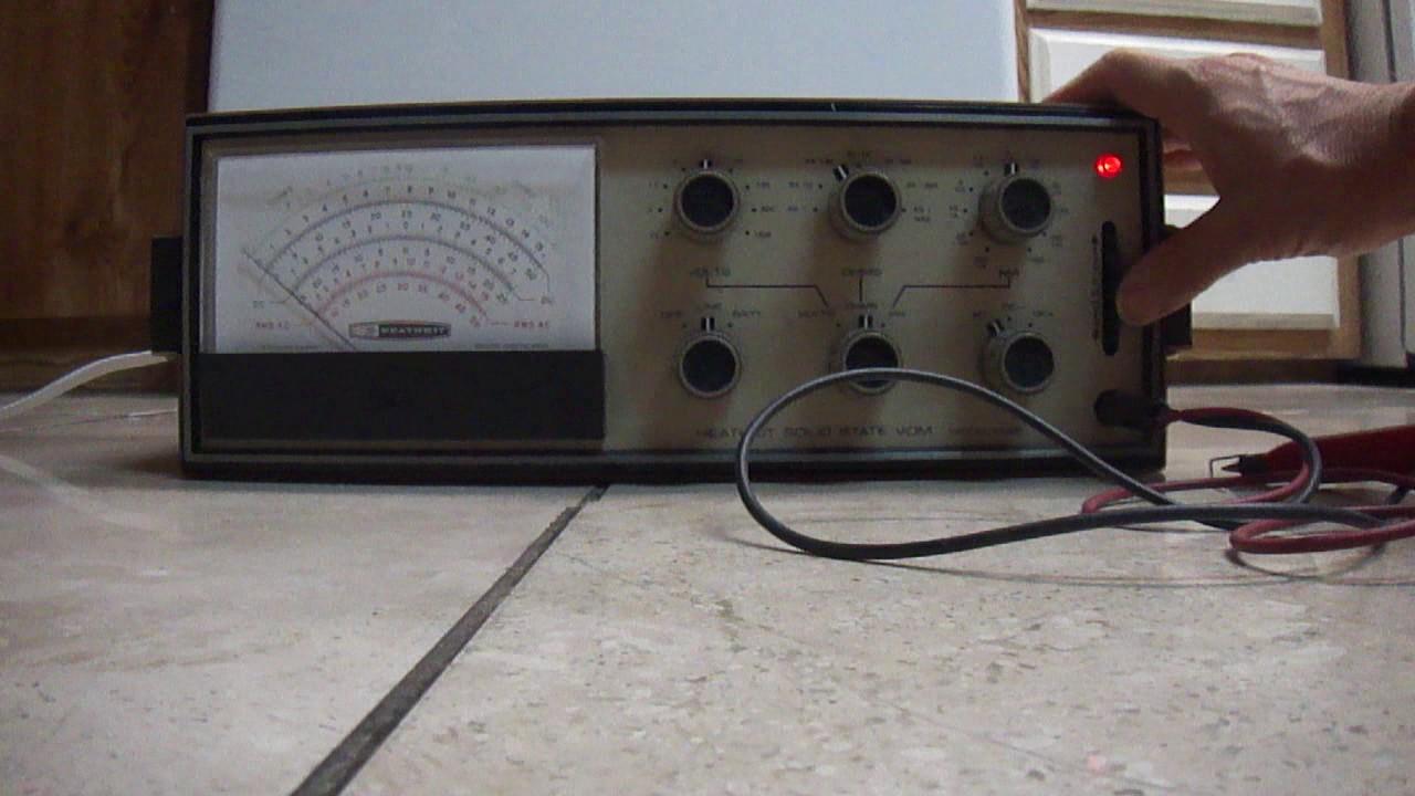 Heathkit im-28u valve voltmeter sm service manual download.