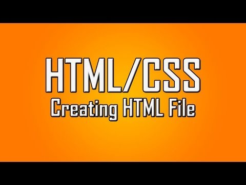 Learn HTML/CSS - #1 - Setting Up The HTML File [1080p]