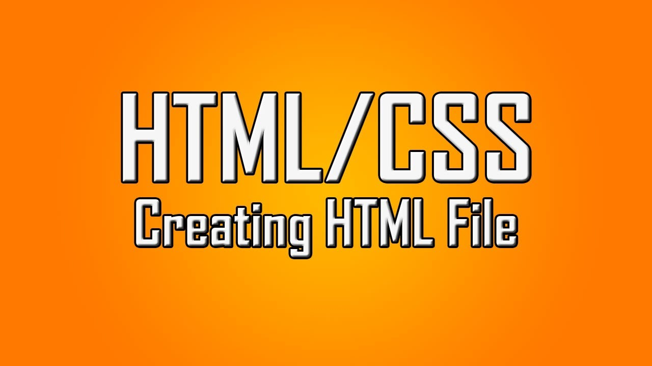 Learn HTML/CSS - #1 - Setting Up The HTML File [1080p ...