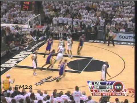 Los Angeles Lakers Vs San Antonio Spurs Game 4 - Conference Finals.5/27/2008. Kobe Bryant 28 Points
