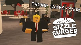 TRUMP GOES TO SIZZLEBURGER ON ROBLOX!