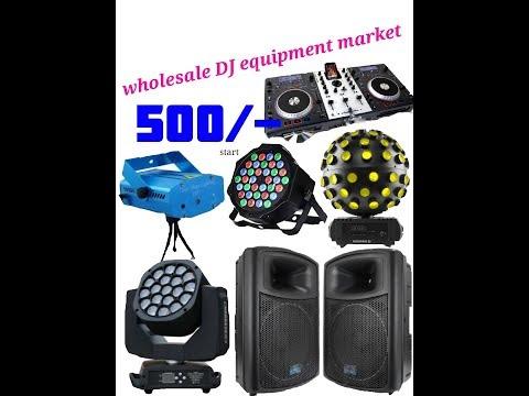 WHOLESALE DJ EQUIPMENT MARKET,LIGHTS,SPEAKERS ETC.,,IN TELUGU