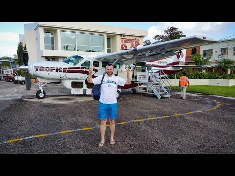 Tropic Air Cessna 208B flight Belize City - San Pedro Town