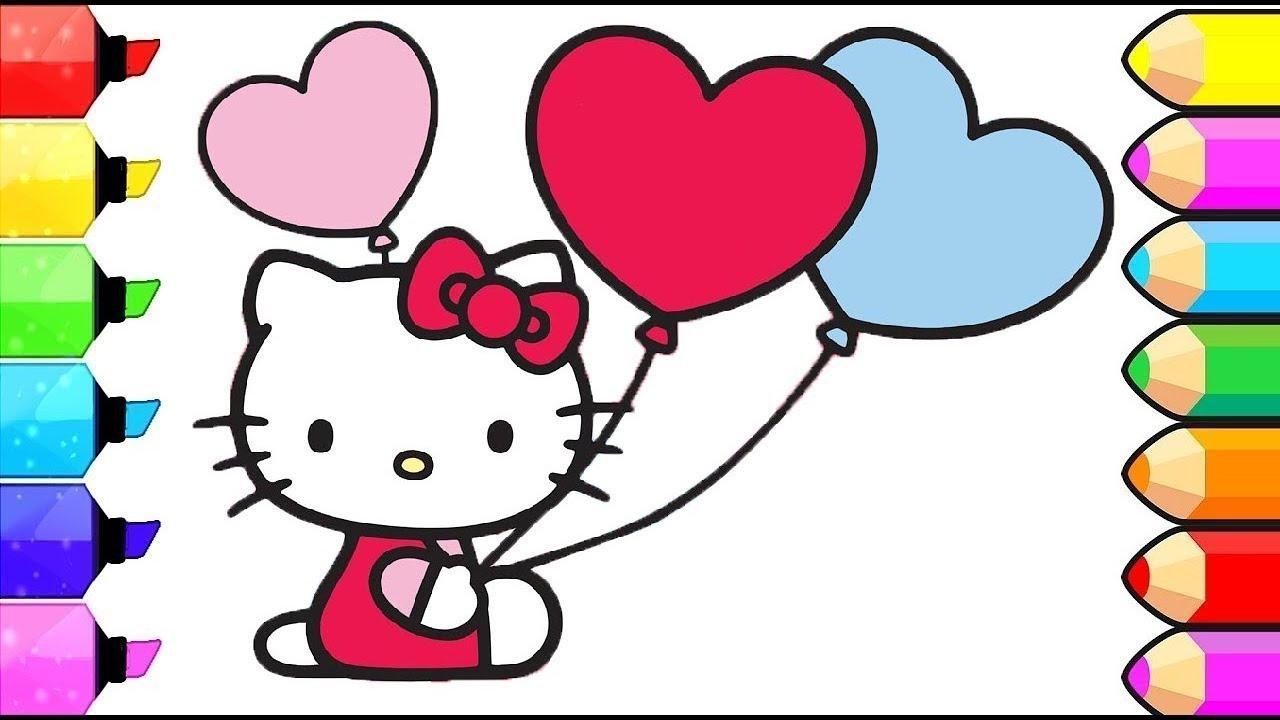 Imparare I Colori Colorando Hello Kitty L Hello Kitty Coloring