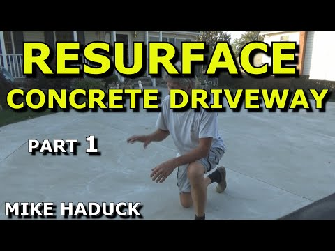 How i resurface a concrete driveway old school part 1 of 2 mike youtube premium solutioingenieria Gallery