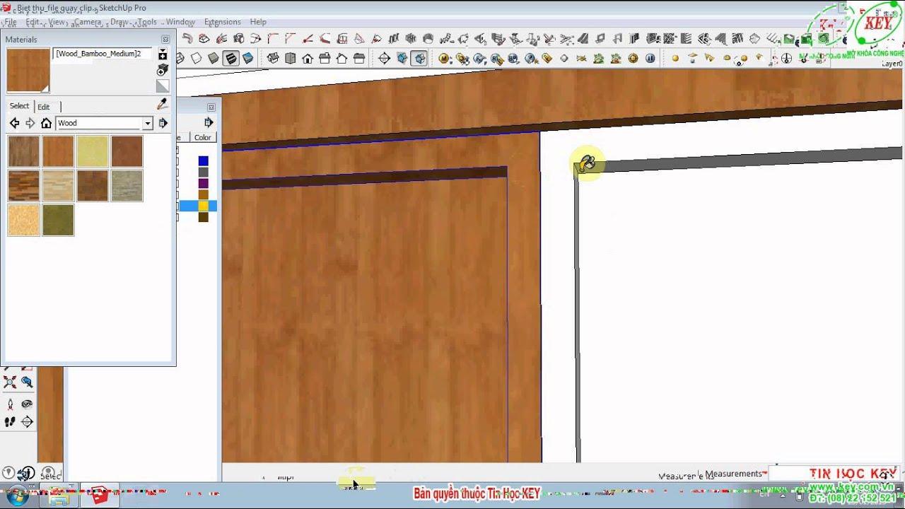 Sketchup Thiết kế biệt thự phần 3 Dựng cửa đi và cửa sổ