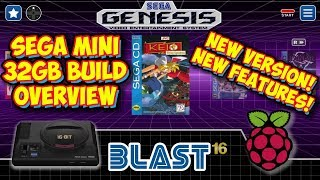 Sega Genesis Mini 32GB Emulation Build For Raspberry Pi - Blast 16 New Version!