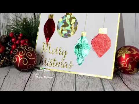 Foiled Christmas Ornaments