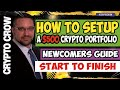 How To Setup $500 Crypto Investment Portfolio 💰💯🚀 Crypto For Beginners