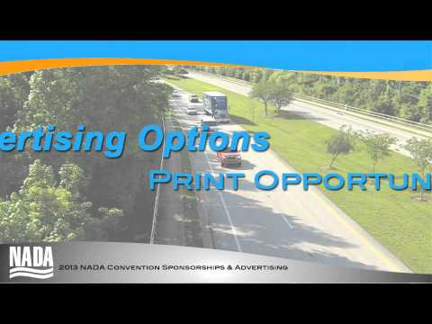 2013 NADA Convention Sponsorship & Advertising Options