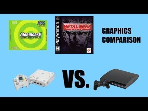 Metal Gear Solid - PS3 vs  Dreamcast Graphics Comparison