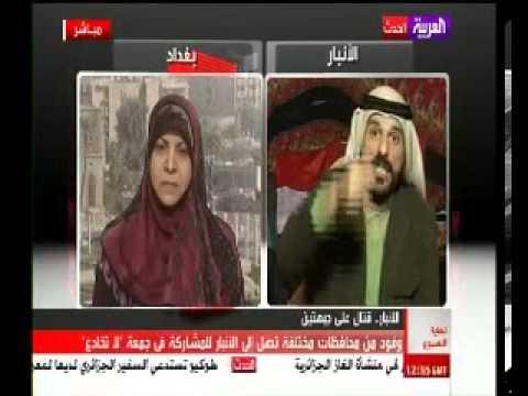 فديو جديد الشيخ علي حاتم يمسح بكرامة حنان الفتلاوي 2013