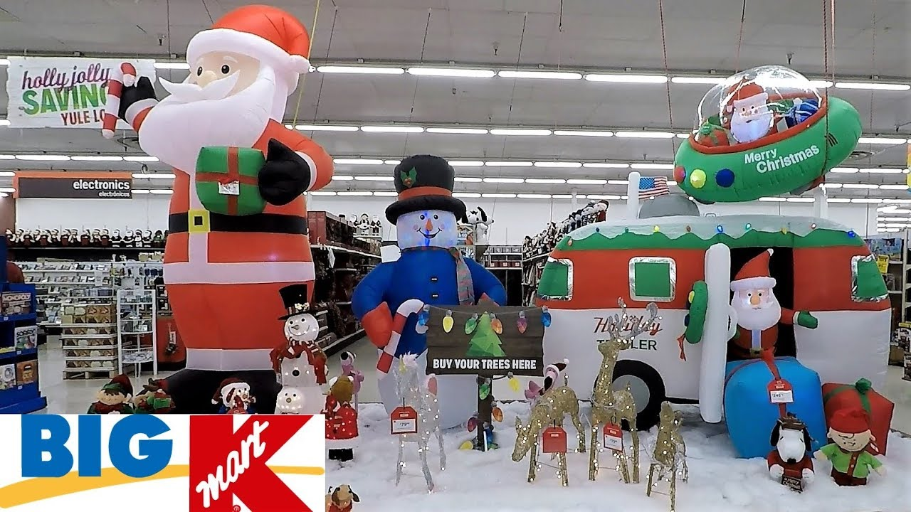 KMART CHRISTMAS INFLATABLES AND OUTDOOR CHRISTMAS DECOR CHRISTMAS SHOPPING DECORATIONS HOME DECOR