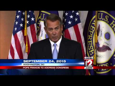 Boehner: Pope Francis to address Congress on Sept. 24