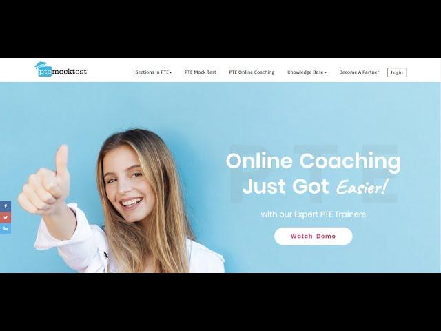 PTE Online Coaching - Demo Class