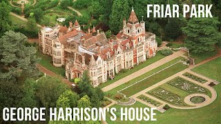 GEORGE HARRISON'S HOUSE FRIAR PARK, OXFORDSHIRE, UK~BEATLES HOMES~AERIAL FLY AROUND~BEATLES HOUSES