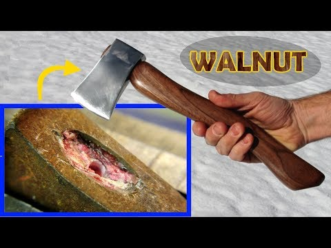 Restore: black walnut hatchet