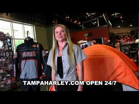 Harley-Davidson Motorcycle Road Trip Essentials Rain Suits, Riding Gear, Luggage, Coolers and Tent