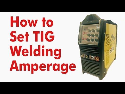 How To Set Tig Welding Amperage Kevin Caron Youtube