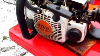 Моя бензопила Stihl MS 180, эксплуатация, отзывы, плюсы.