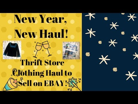 Thrift Store Clothing Haul to Sell on Ebay! | Paid $3 Per Piece | Winter Thrift Haul