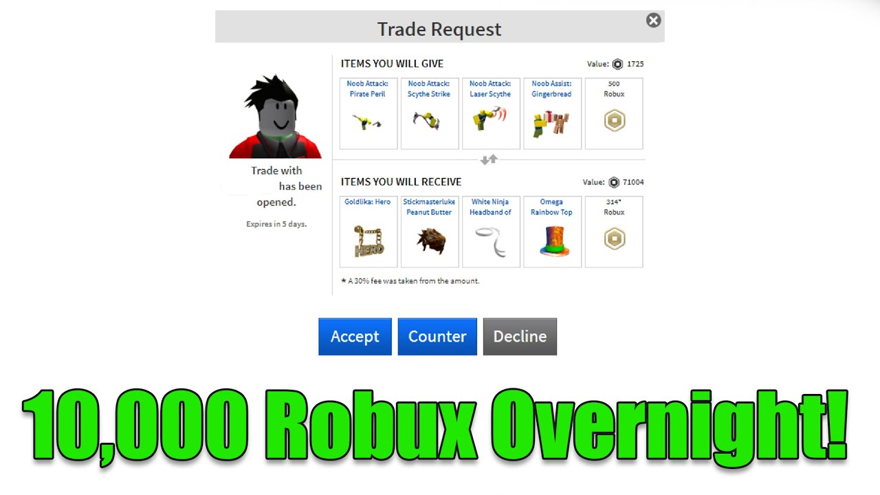 How to send a trade request on roblox
