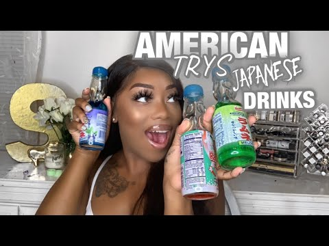 AMERICAN TRIES JAPANESE DRINKS!!! |Nicole GlamLife|
