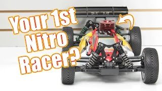 your first nitro racing buggy losi 8ight nitro rtr unboxing