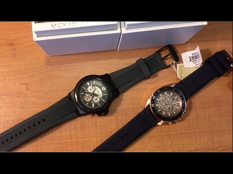 5003ae6174bd Reviewing Cool Michael Kors Men s Automatic Skeleton watches - YouTube