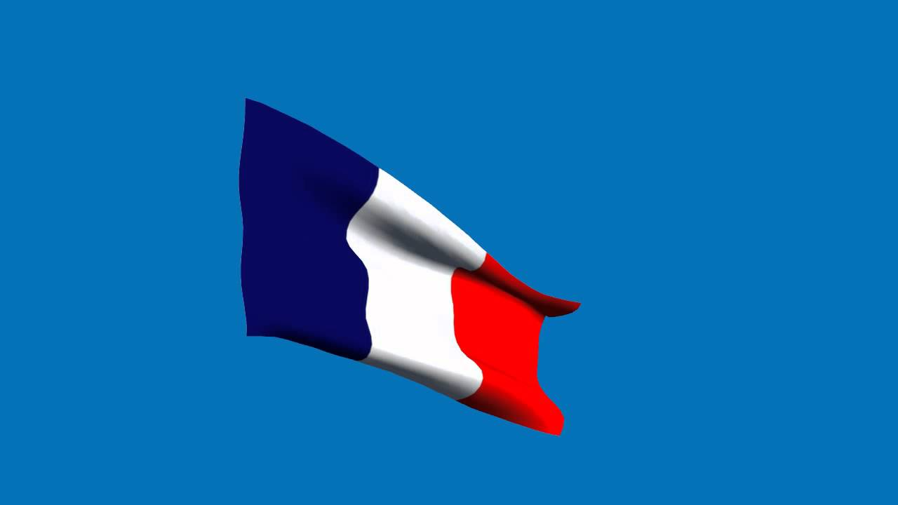 france flag in the wind moving blue screen effect youtube