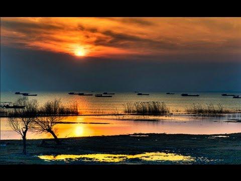 La lac Chaohu dans la Province d'Anhui