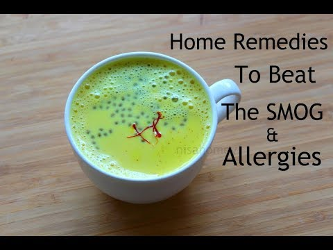 6 Home Remedies For Allergies, Air Pollution Beat The Smog With Turmeric Milk/Golden Milk