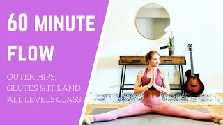 Yoga flow for outer hips & glutes