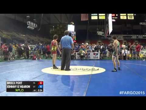 145 Champ. Round 3 - Johnny O`hearon (Utah) vs. Brock Port (Pennsylvania)