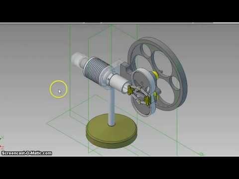 Julius De Waal Rhombic Stirling engine
