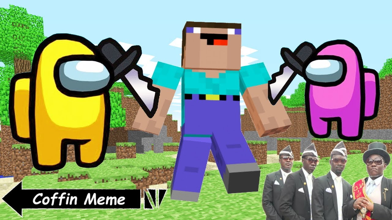 Among Us In Minecraft - Coffin Meme