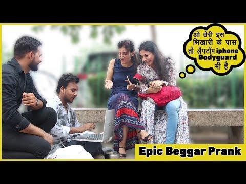 beggar-prank-with-laptop,-iphone-&-bodyguard-|-funky-joker