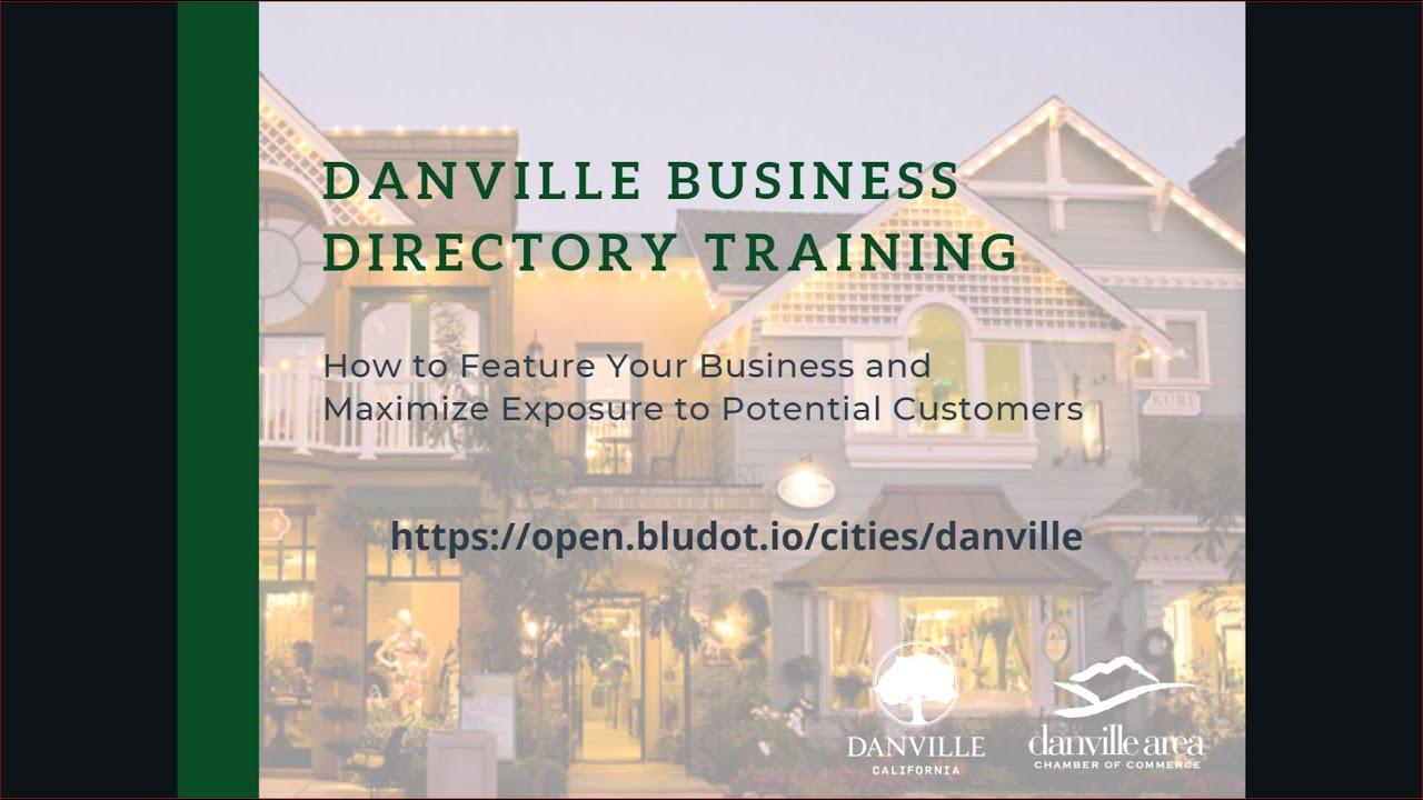 Bludot Open Webinar | Town of Danville, CA