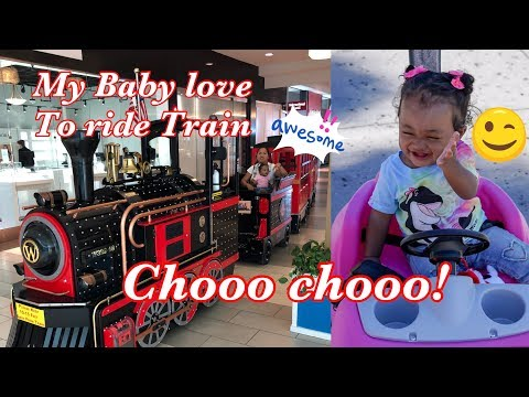 TRAIN RIDE! MY BABY LOVE TRAIN RIDE AT THE MALL |Simplygen