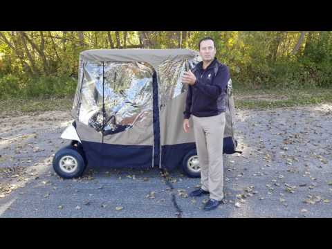 EZ Mag Golf Cart Covers Enter and Exit Golf Cart