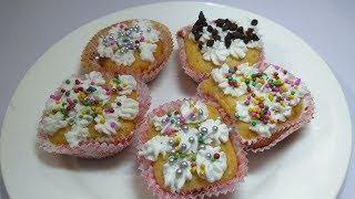 Eggless Vanilla cupcake without oven | Eggless cake recipe | बिना अंडे का वैनिला कप केक कुकर में