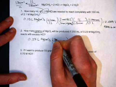 Solving Solution Stoichiometry Problems - YouTube