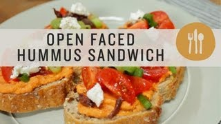 Open Faced Hummus Sandwich - Superfoods