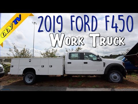 New 2019 Ford F450 4x4 Super Crew Chassis w/Tool Boxes | Ultimate Work Truck Review & Tour