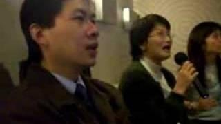 Mikiko singing at Gary's farewell party at CEO Newway Karaoke.