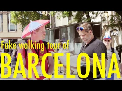 Fake Walking Tour of Barcelona - INTERNATIONAL TOURRORIST [FULL EPISODE]