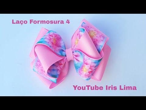 Laço  de Gorgurão 🎀 Laço Formosura 4 🎀 DIY 🎀 PAP 🎀 TUTORIAL 🎀 Iris Lima